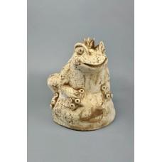 Скульптура 'Лягушка на камне' №1