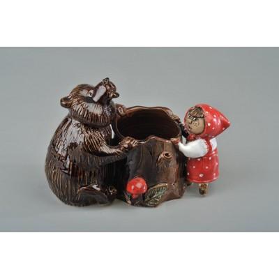 Карандашница 'Маша и медведь' №1
