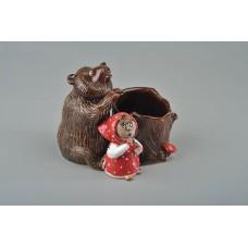 Карандашница 'Маша и медведь' №2