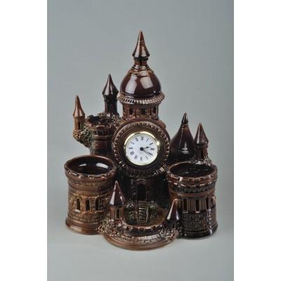 Часы-карандашница 'Замок'