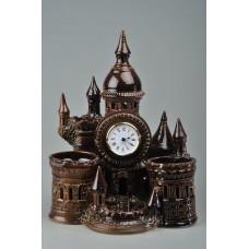 Часы-карандашница