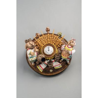 Часы настенные'Деревенька'